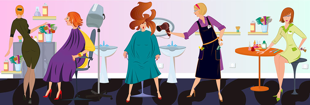 hair salon cartoon