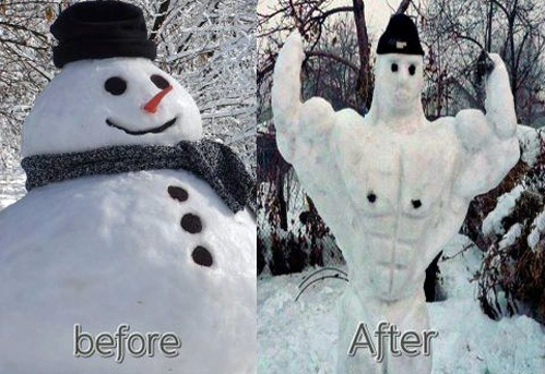 funny-snowman-weightloss-fitness-before-after